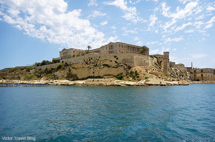Knights' fortresses. Valletta, Malta.