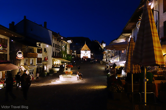Night Gruyeres,  Switzerland.