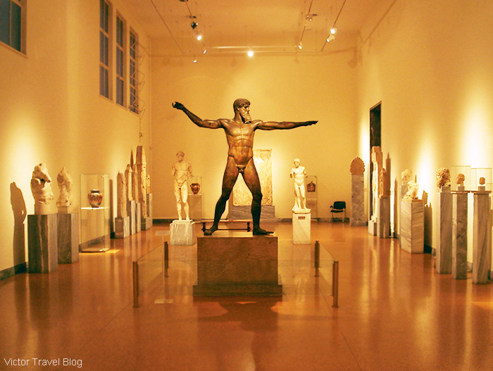 Poseidon or Zeus. Bronze. The National Archaeological Museum of Athens. Greece.