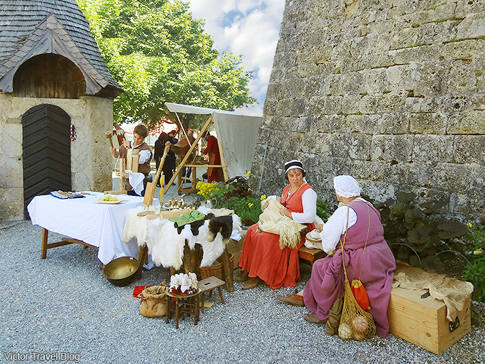Summer solstice celebration in Gruyeres, Switzerland.