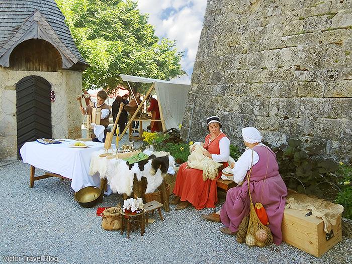 Summer solstice celebration in Gruyeres, Switzerland.