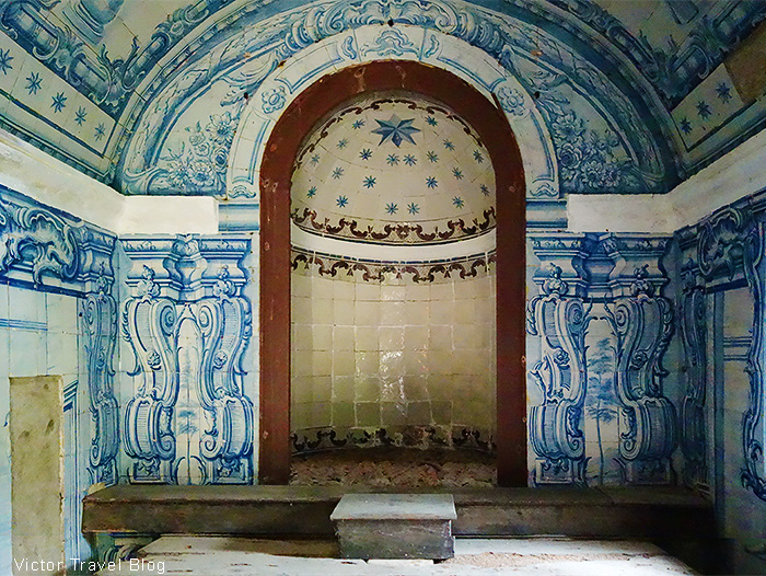 Inside of the Capuchos Convent. Sintra, Portugal.
