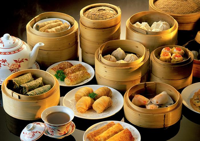 Chinese dumplings. Hainan Island, China.