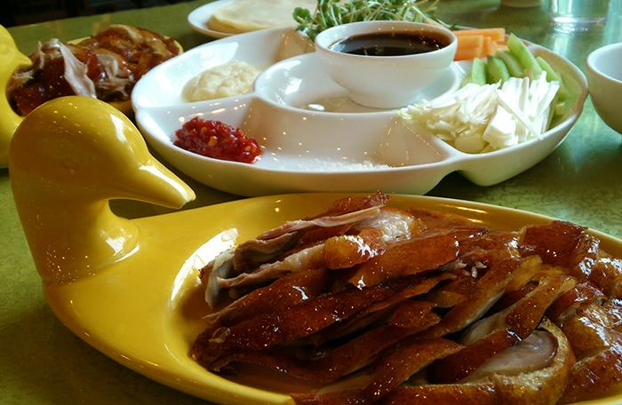 Peking duck. Hainan Island, China.