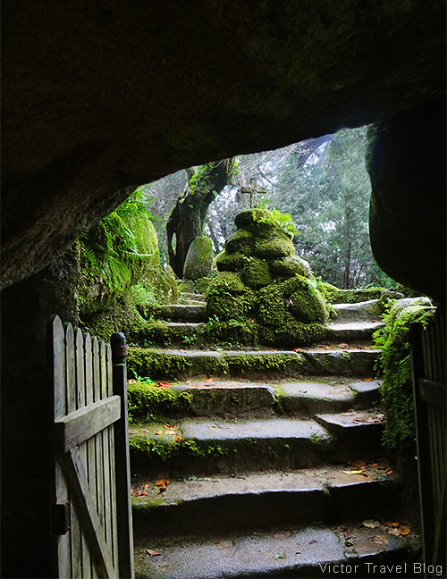 Entrance to the Convent of the Capuchos. Sintra, Portugal.