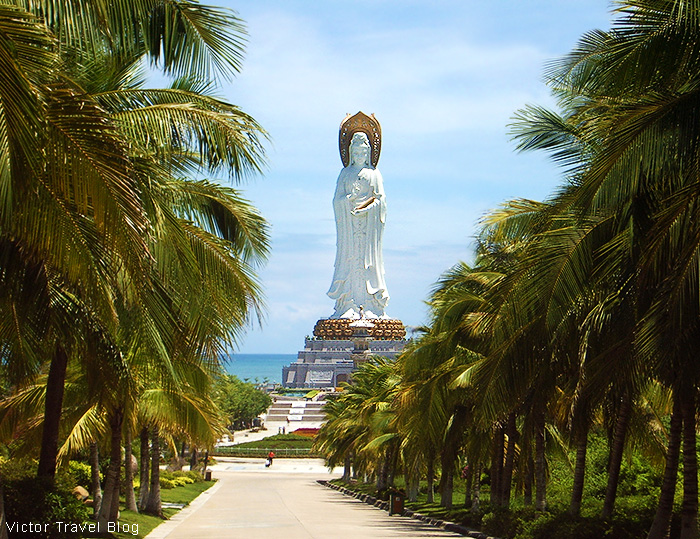 The Guanyin statue. The Nanshan Temple of Sanya, Hainan Island, China.