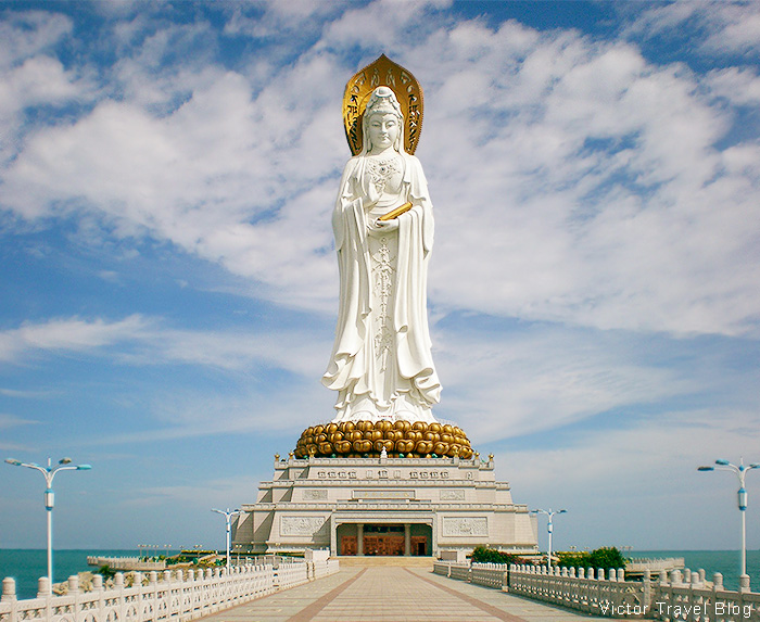 The Guanyin. The Nanshan Temple of Sanya, Hainan Island, China.