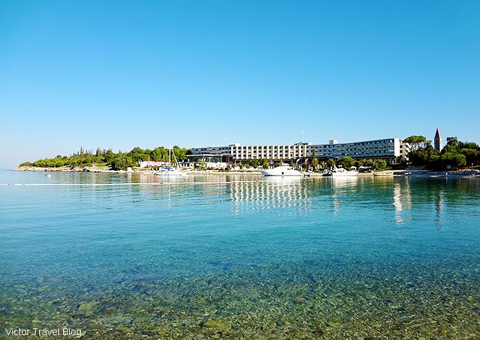 The Hotel Istra, St. Andrew's Island, Rovinj, Istria, Croatia.