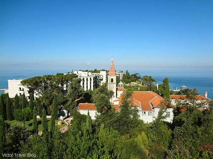 Island Hotel Istra.The  St. Andrew's Island, Rovinj, Istria, Croatia.