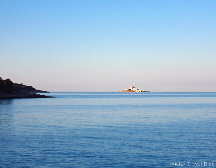 The lighthouse near the Mashkin island. Rovinj, Croatia.