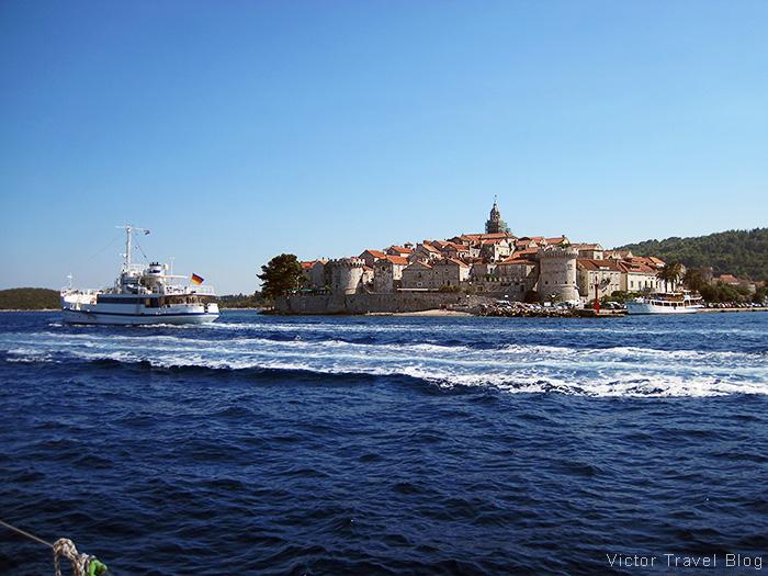 Sailing in Corcula, Croatia.