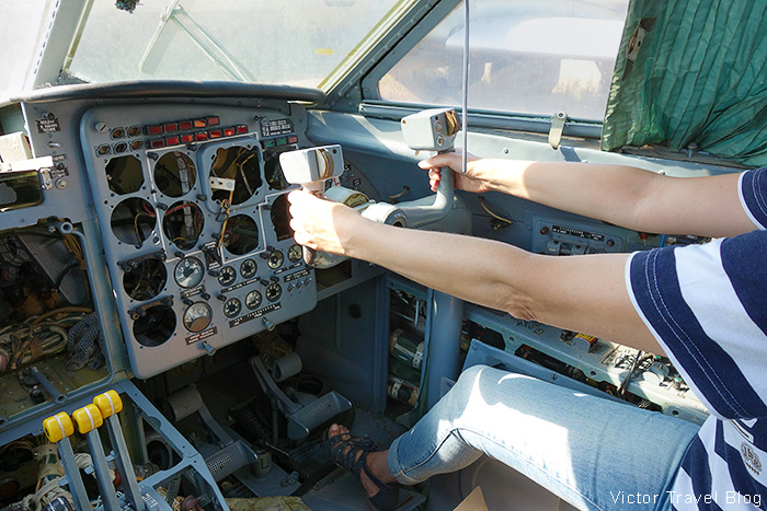 In the abandoned aircraft. The former Bykovo Airport. Moscow, Russia.