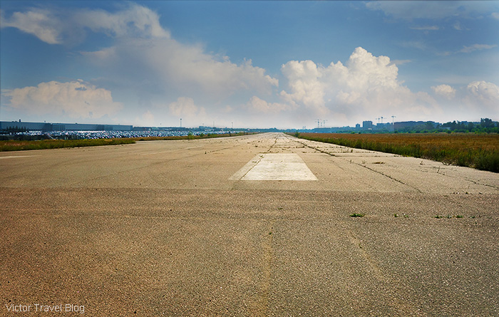 The runway of the former Bykovo Airport. Moscow, Russia.
