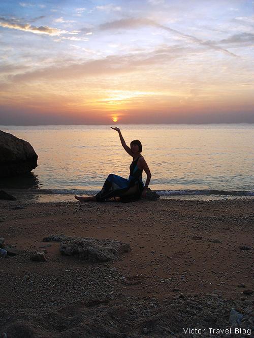 Sunrise.  El Gouna resort, Egypt, Red Sea.