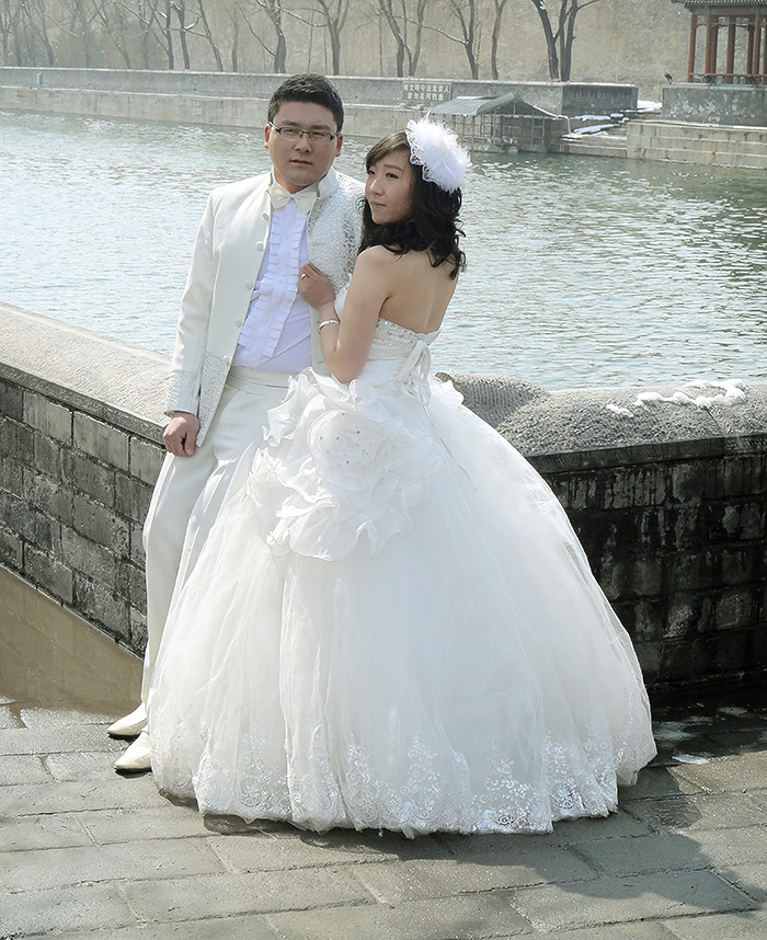 Just married in Beijing, China.
