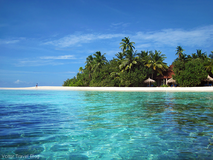Beach of the Robinson Club Maldives.