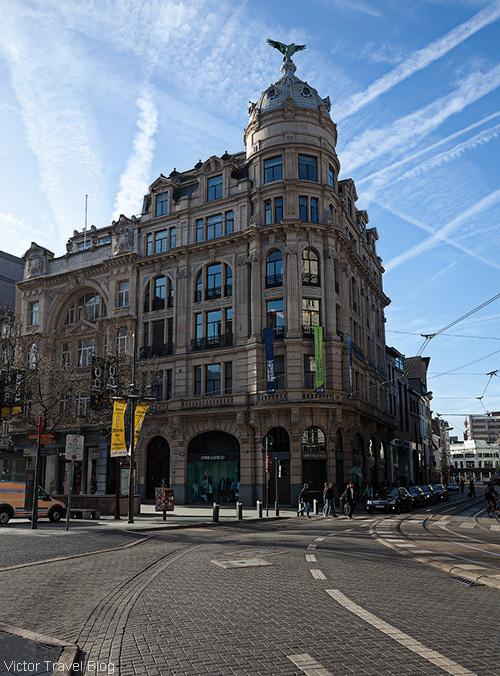 Meir. The main shopping street of Antwerp. Belgium.