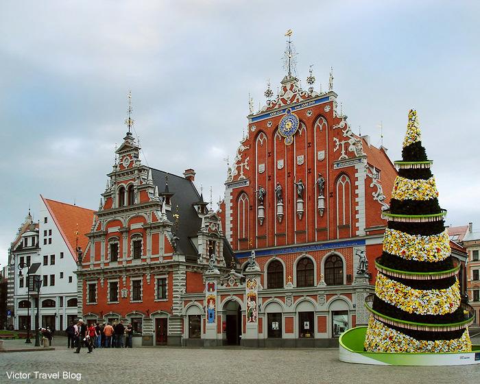 The House Of The Blackheads. Riga, Latvia.