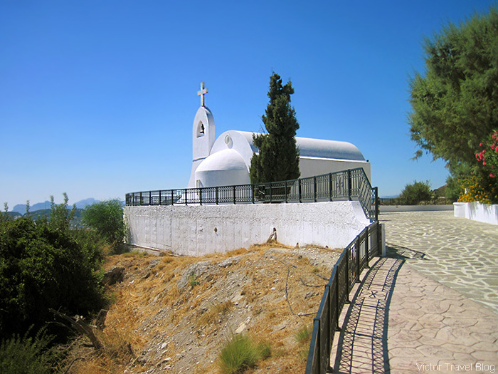 One of the Orthodox churches. The island of Rhodes, Greece.