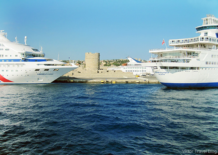 In the port of Rhodes, Greece.