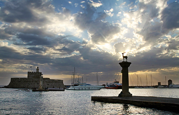 The island of Rhodes, Greece.