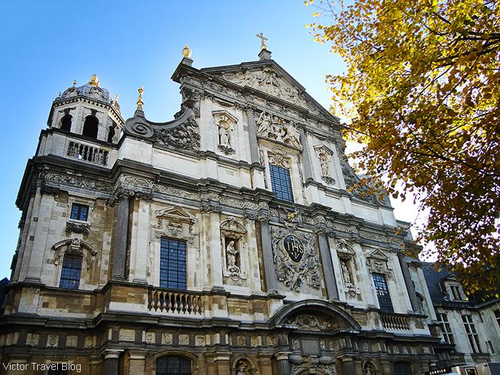 St. Carolus Borromeus Church. Antwerp, Belgium.