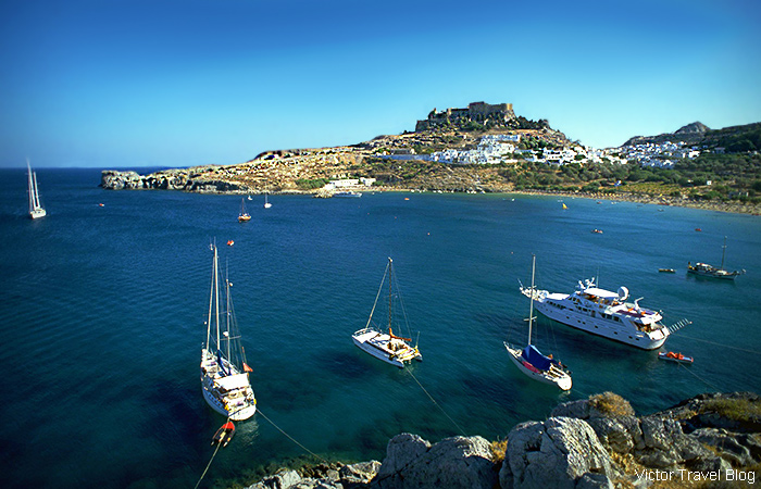 The city of Lindos. The island of Rhodes, Greece.