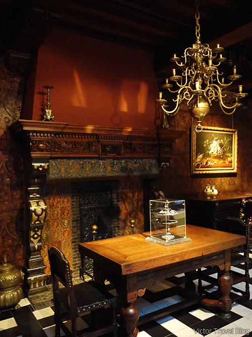 Inside of the Rubens House. Wapper 9/11, Antwerp, Belgium.