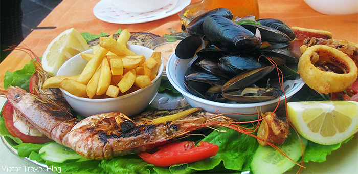 Sea dish. The island of Rhodes, Greece.