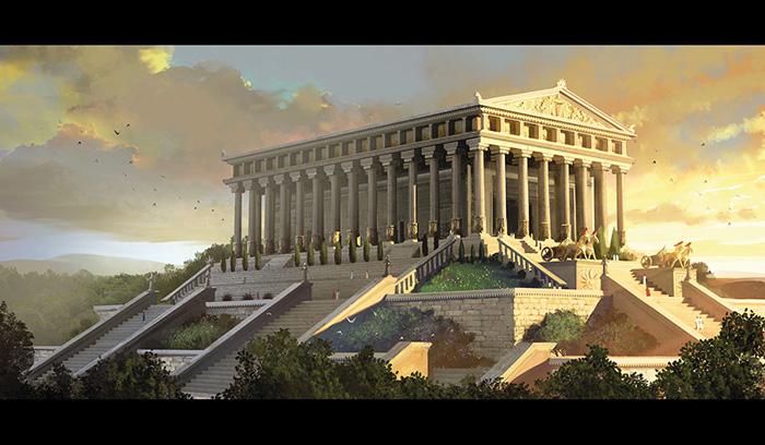 Temple of Artemis. Reconstruction.  Ancient Ephesus, Turkey.