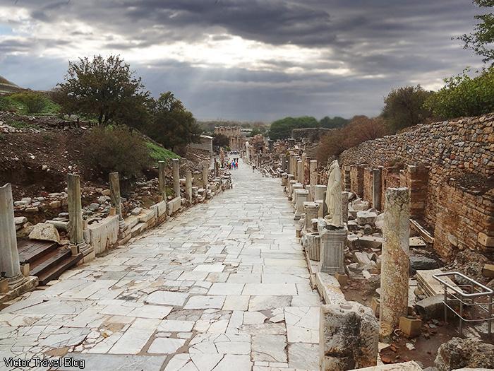 Curetes Street. Ancient Ephesus, Turkey.