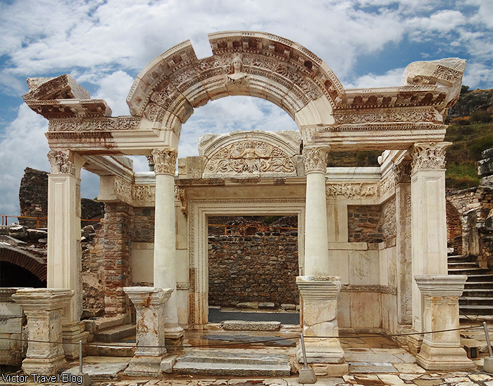 Hadrian's Temple. Ancient Ephesus, Turkey.