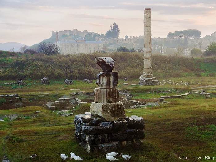 Remnants of the Temple of Artemis. Ancient Ephesus, Turkey.