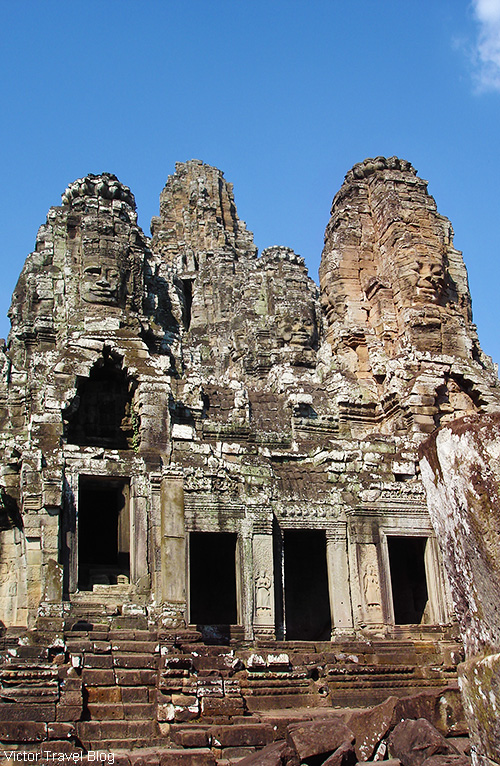 The Khmer temple of Bayon. Angkor Complex, Cambodia.