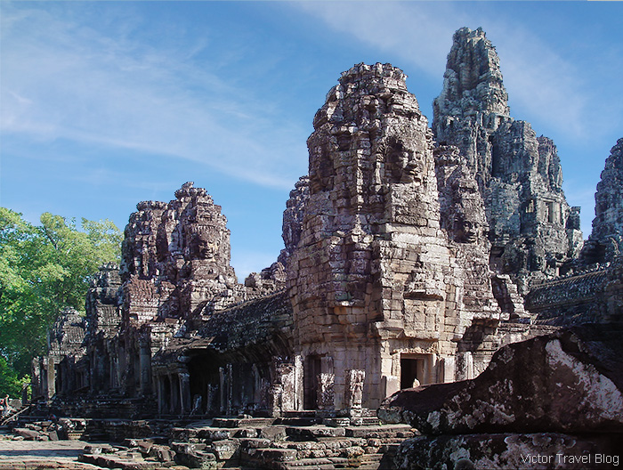 The Khmer temple of Bayon. The Angkor Complex, Cambodia.