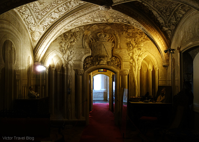 Inside of the Pena Palace. Sintra, Portugal.