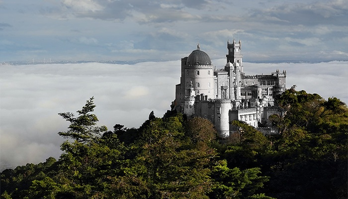 Pena National Palace without painting. Sintra, Portugal.