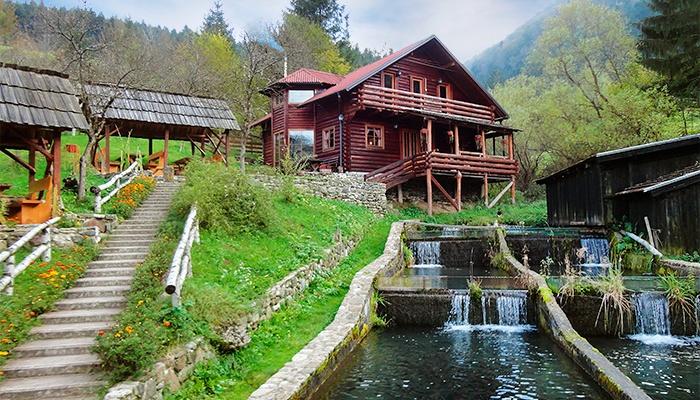 The Luis trout farm. Bosnia.