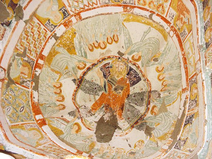 Frescoes in cave churches in Turkish Cappadocia.