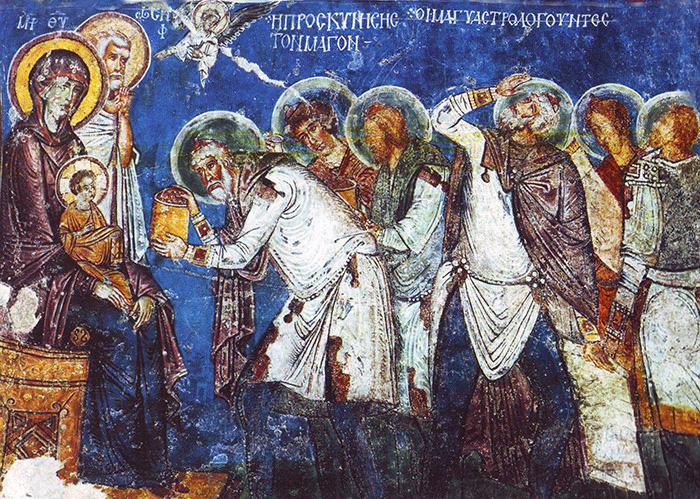 Frescoes in cave churches. Cappadocia, Turkey.