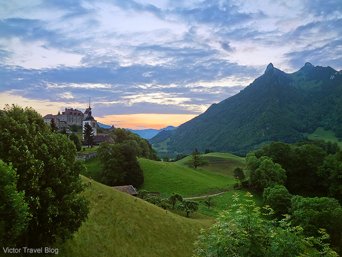 Castles in Switzerland. Gruyeres Castle.