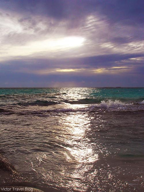 Sunset. The Maldives.