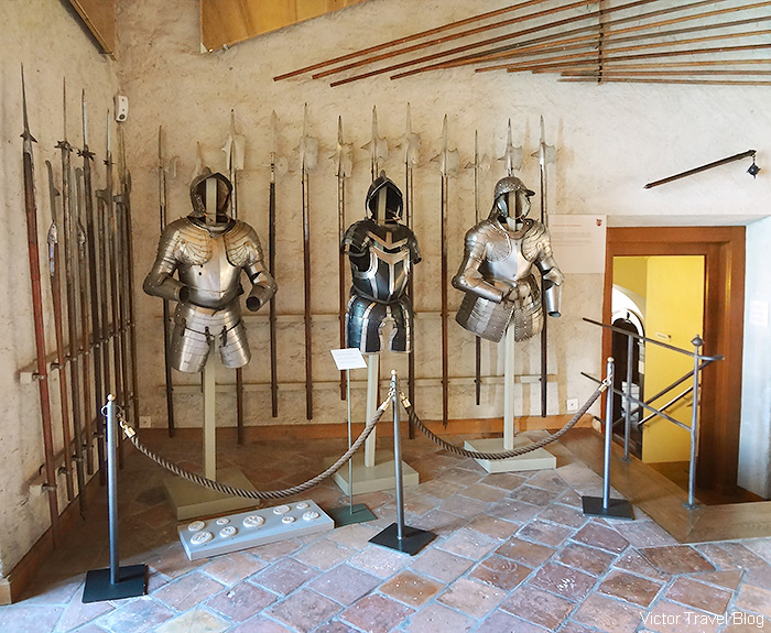 The interior of Oberhofen Castle, Switzerland.