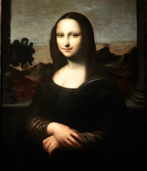 A portrait of the younger Mona Lisa. Its owners claim it was painted by Leonardo Da Vinci before his more famous version.