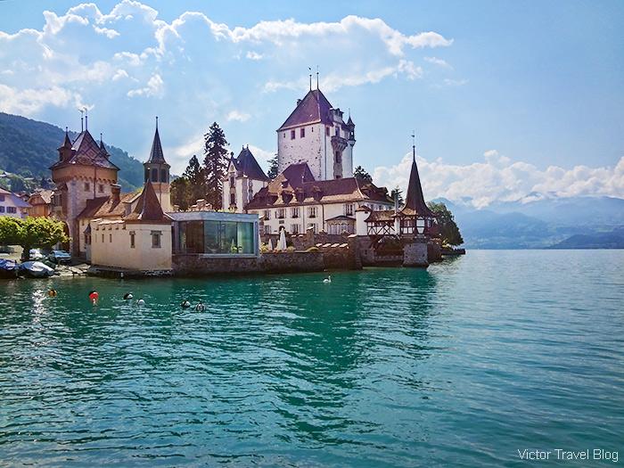Castles in Switzerland. Oberhofen Castle.