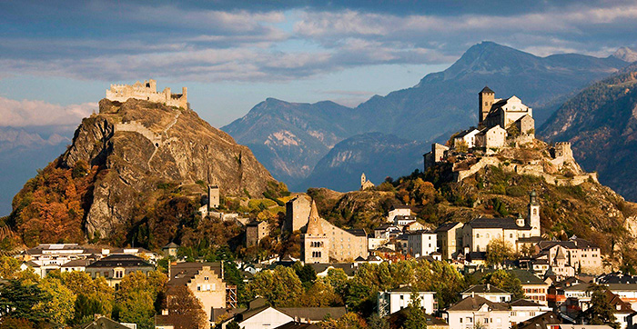 Valere Castle in Sion, Switzerland.