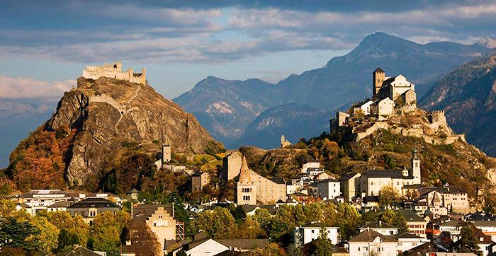 Valere Castle in Sion, Switzerland.