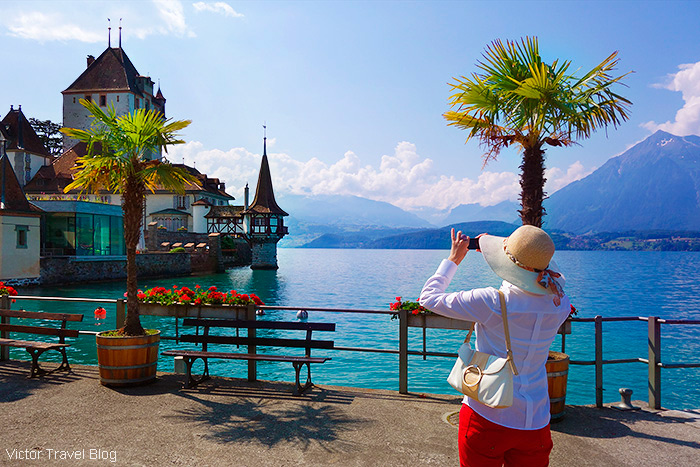 Castles in Switzerland. Oberhofen Castle.
