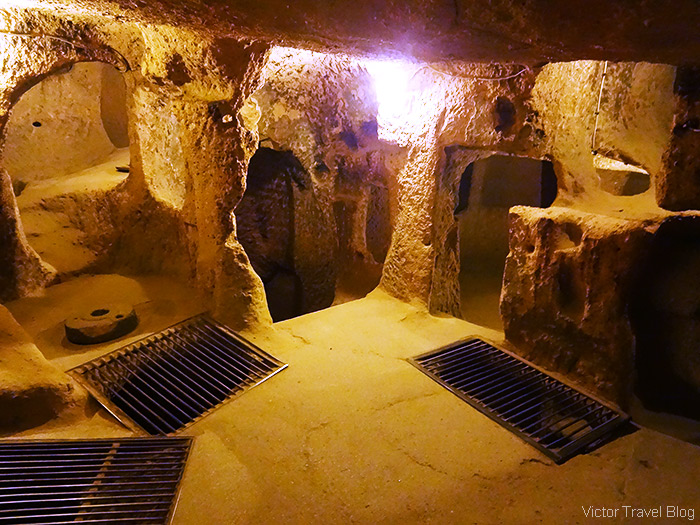 Underground city. Cappadocia, Turkey.