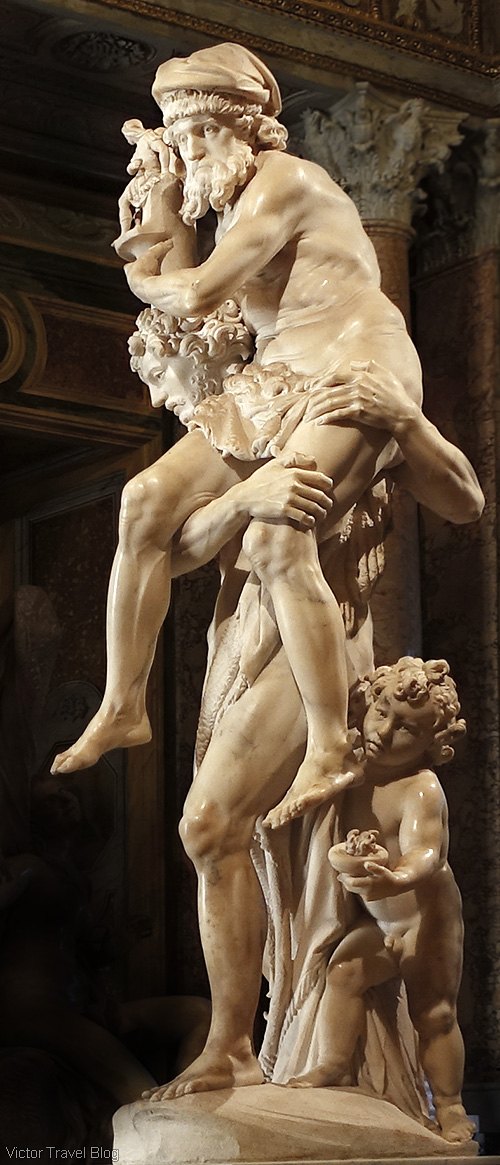 Aeneas, Anchises, and Ascanius by Gian Lorenzo Bernini. The Museo Borghese, Roma, Italy.